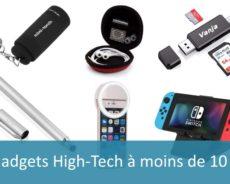 Les gadgets high-tech à moins de 10 €